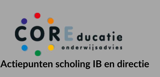 Actiepunten scholing IB en directie course image